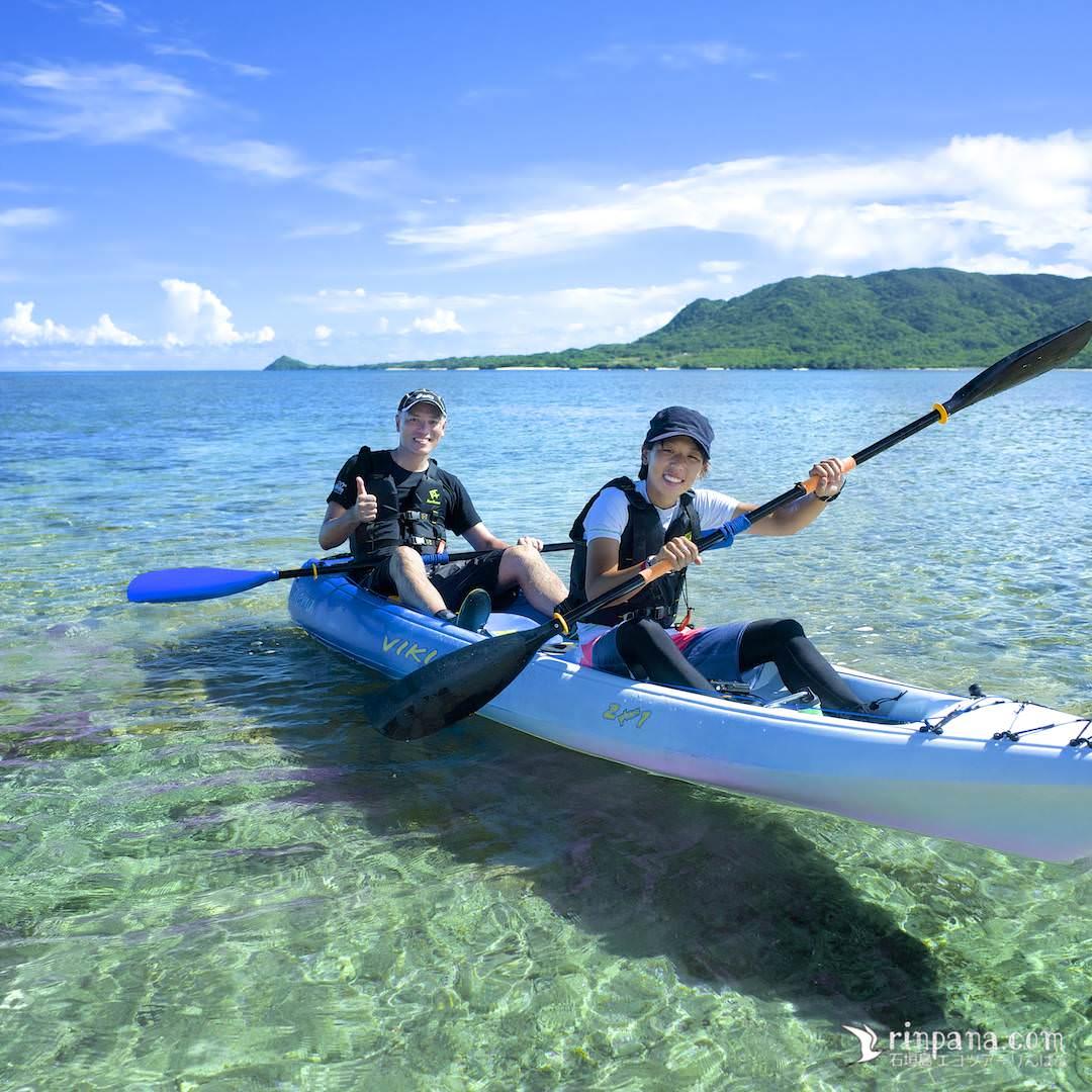 石垣島でカヌー体験をしている写真