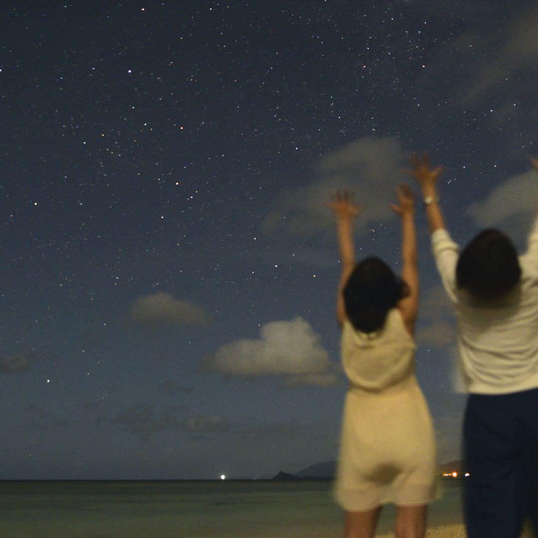 星と一緒に写真を撮ろう
