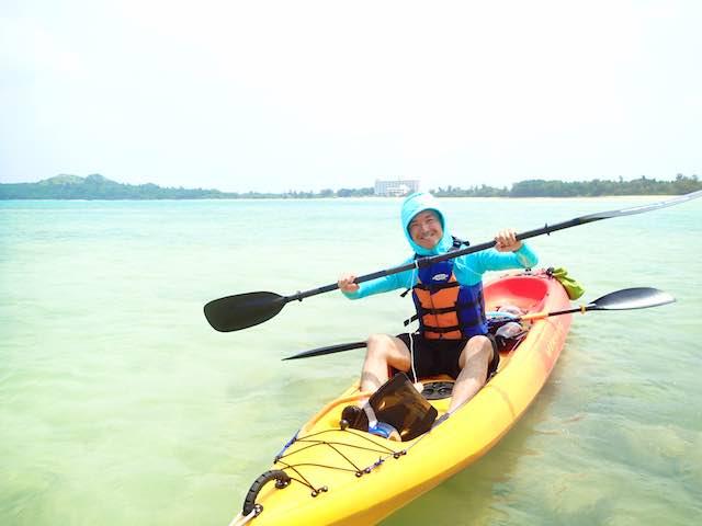 カヌーの漕ぎ方をかんたん練習で教わる