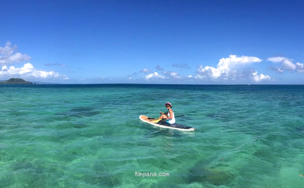 SUPで無人島に行くツアー