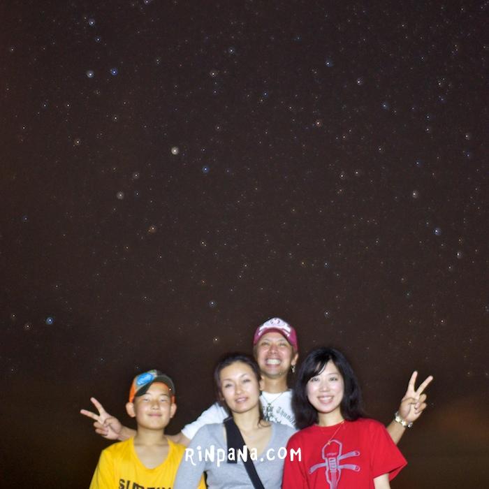 流れ星も見つけられた!ナイトツアー(ホタルツアー)