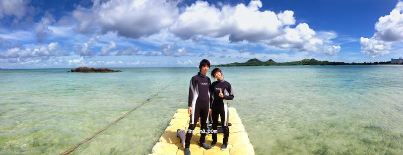 石垣島の海で、シュノーケリングでマンタを見る!