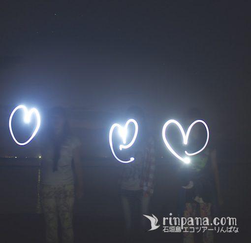星と人と一緒に記念写真