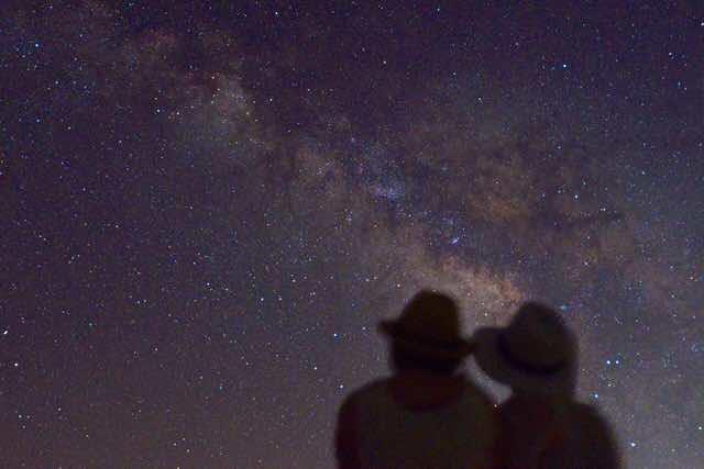 星空ツアーの様子