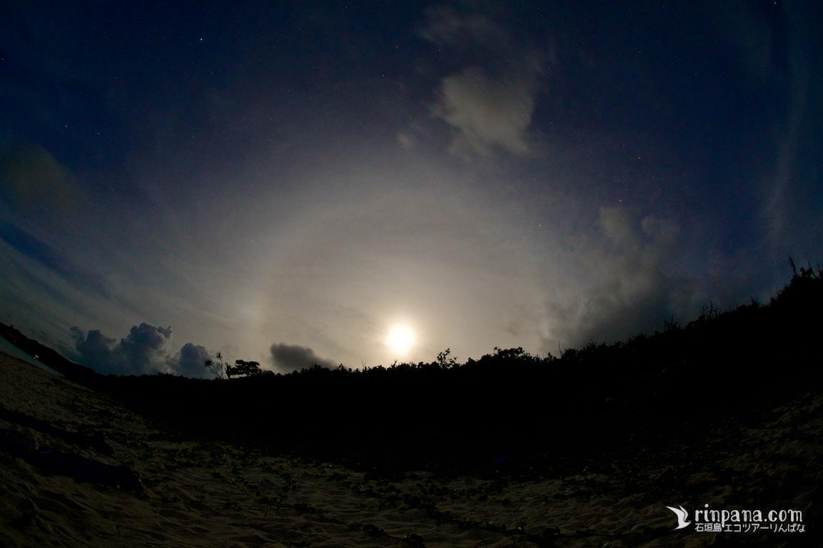 満月の美しさにも魅せられた、星空ツアー