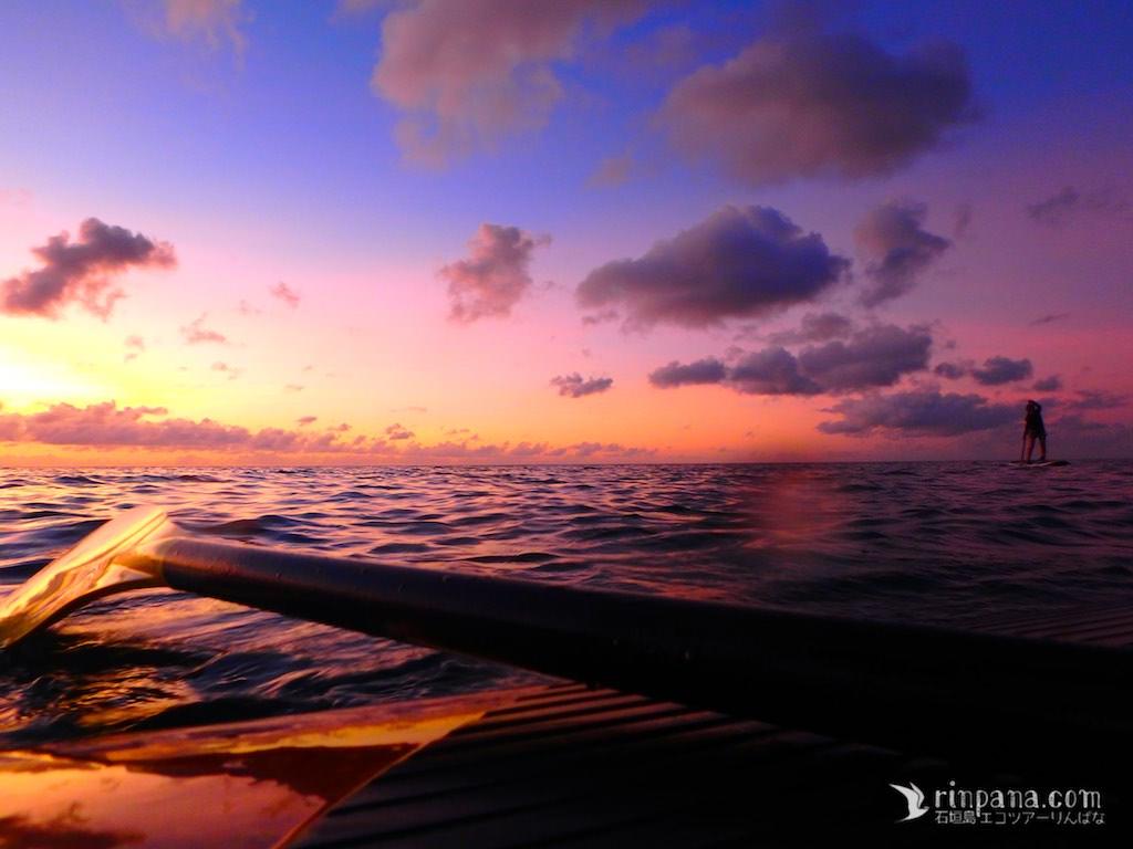 石垣島の美しい日没