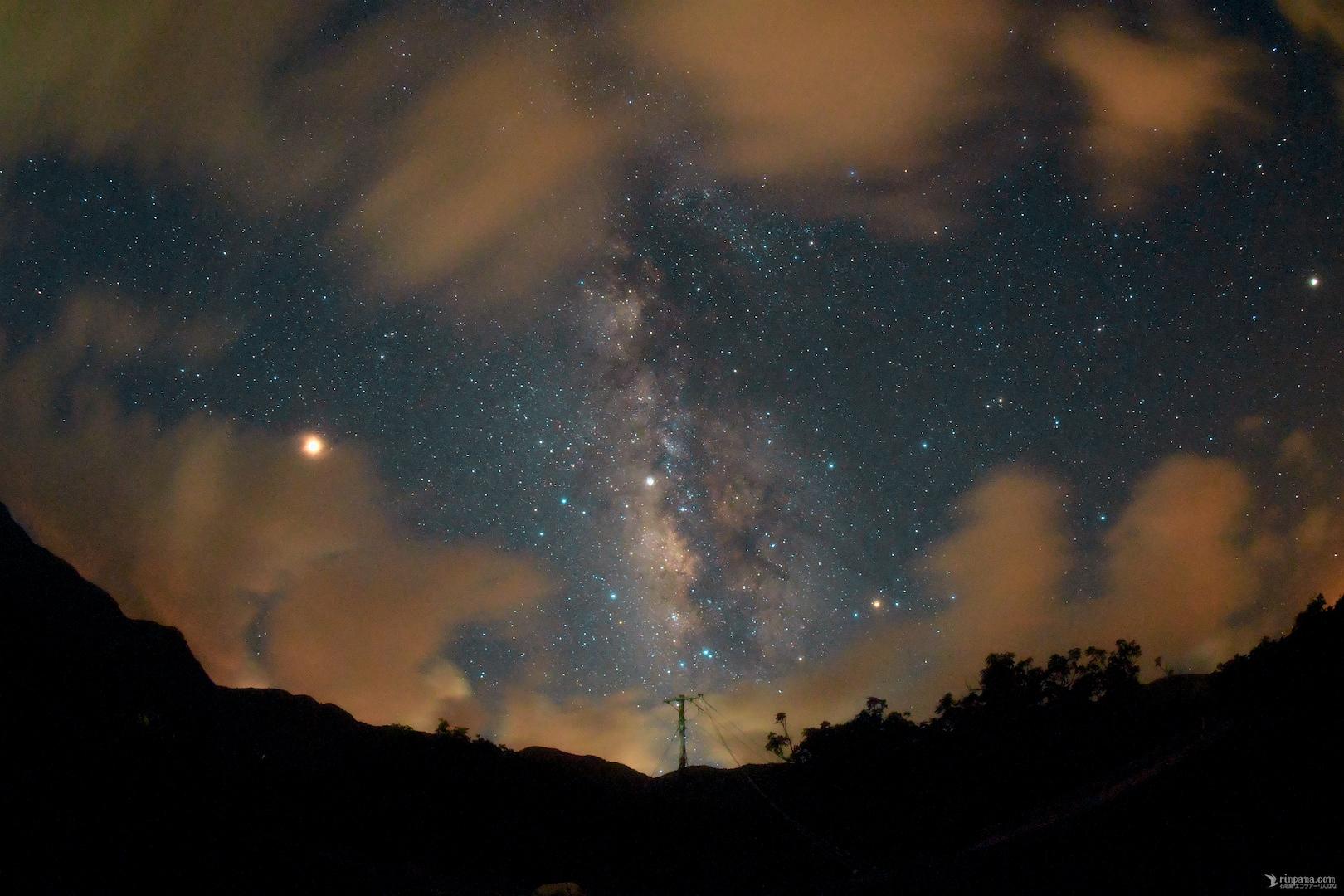 今夜の「星空キャンプ場」で見た天の川