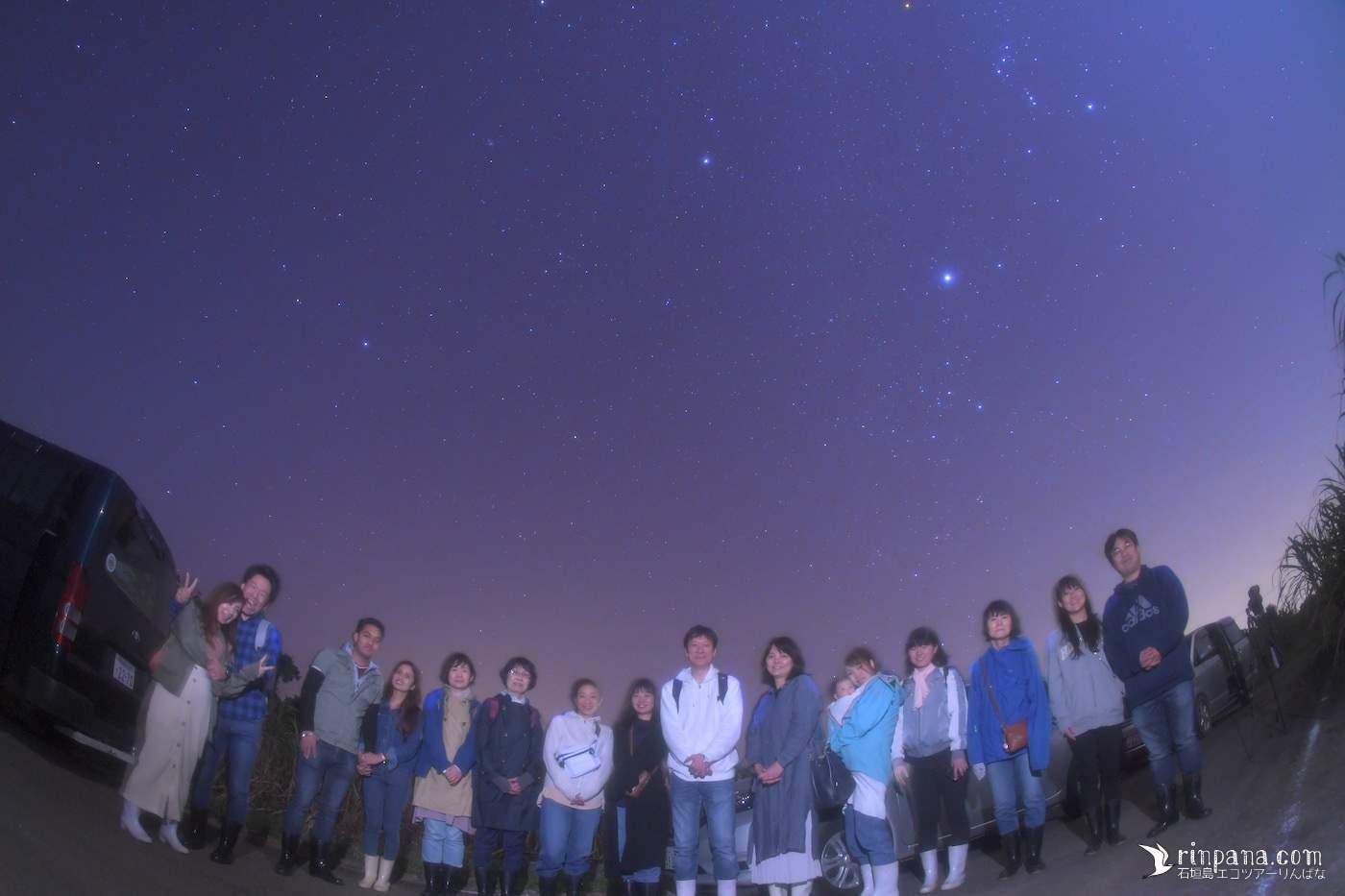 3/12 満天の星空を喜ぶホタルツアー。冬のダイヤモンドが輝いていました!