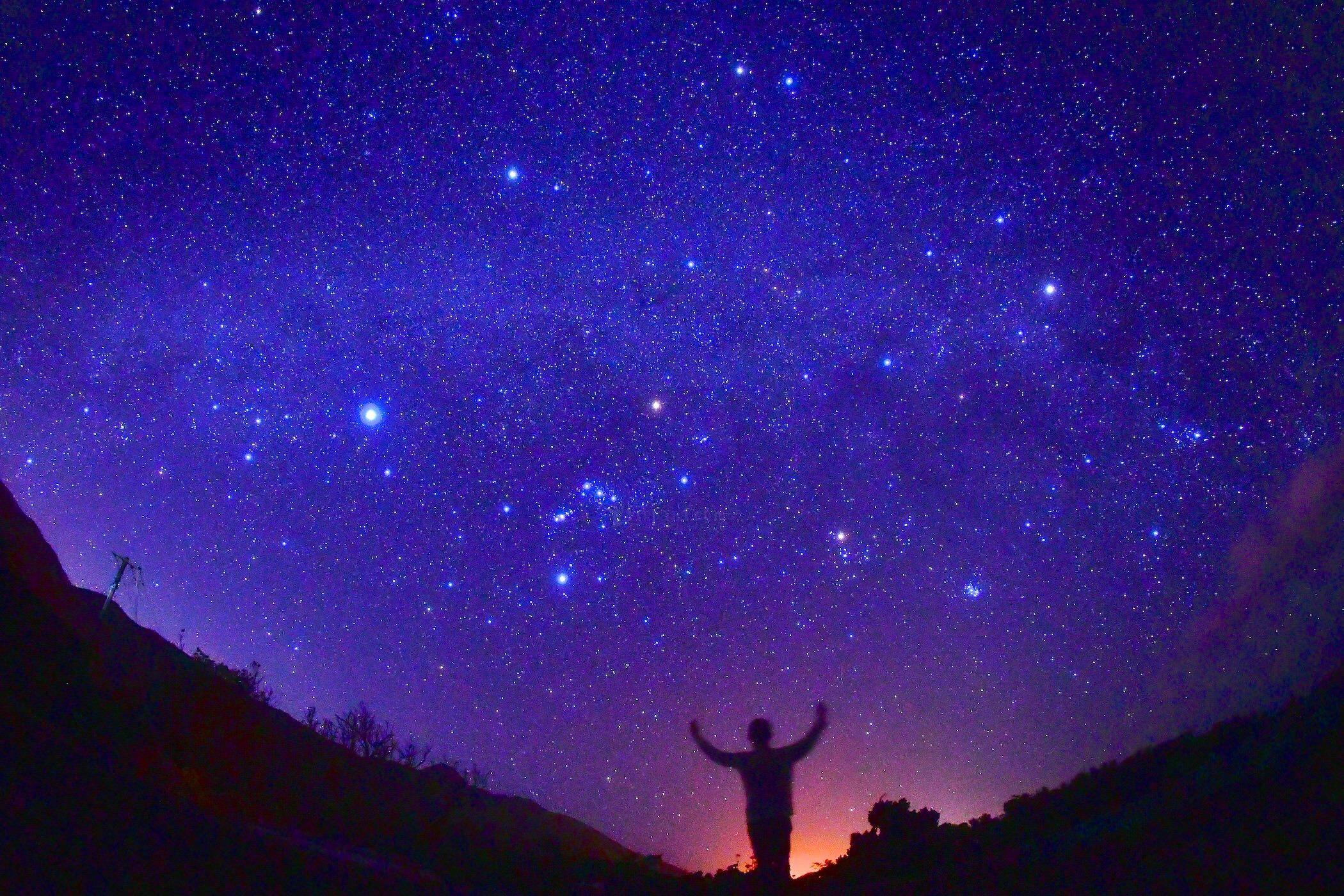 石垣島の冬の星空