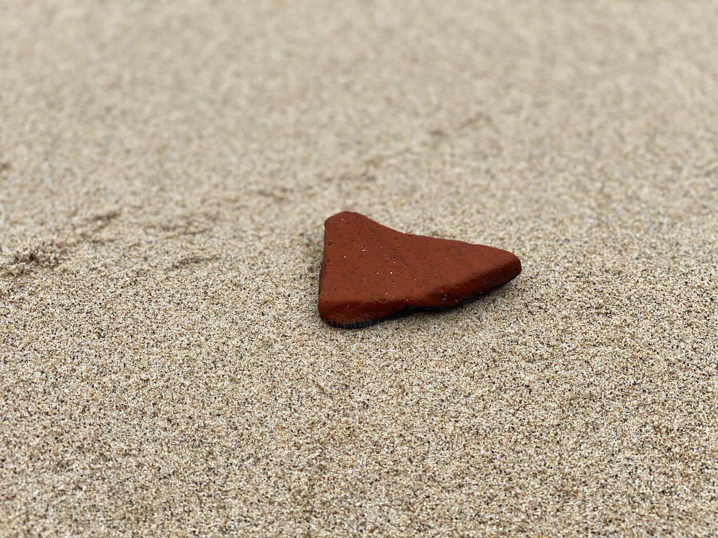 海岸で拾った土器の破片