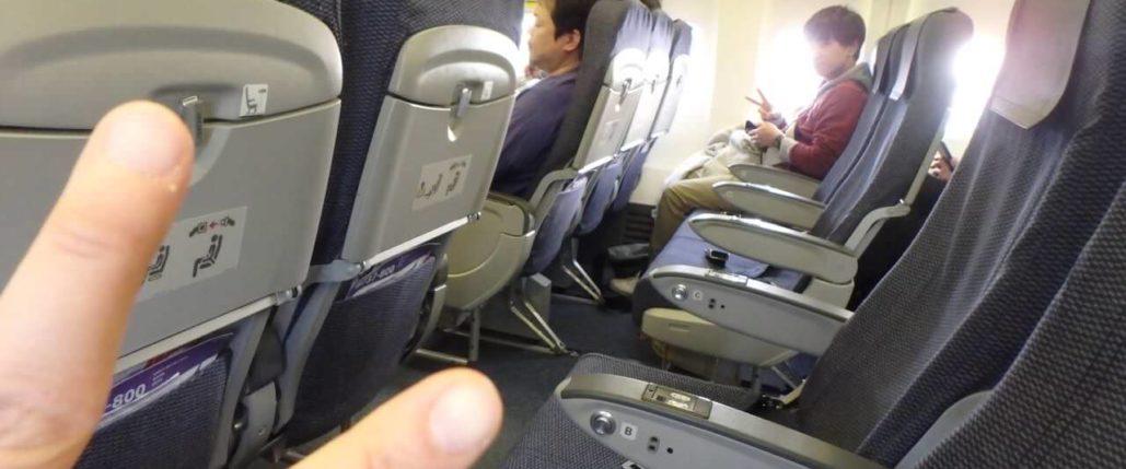 機内でピース