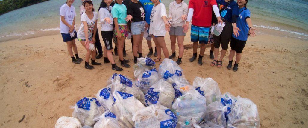 青山学院海岸清掃