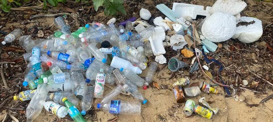 漂着ゴミの分別と回収