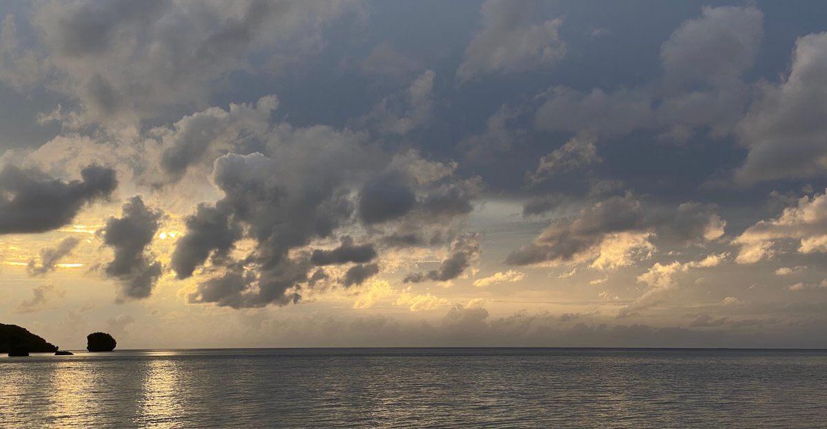サラ浜の夕日