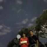 石垣島の星と一緒に撮影